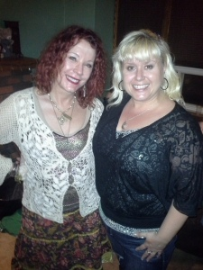 Miss Pamela and me.  It was a hot humid night in Toronto and good Lord did I melt.