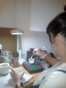 Karrie hard at work