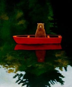 Bear in the boat.
